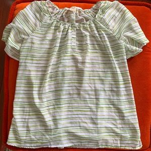 Green and White Top 💚 Size 2X
